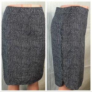 Ann Taylor Loft Blk white Pencil Skirt Size 8